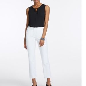 Nic+Zoe white Perfect Pant cropped ankle trouser